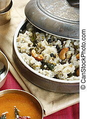 Ven pongal is common and popular breakfast in Tamilnadu. -...