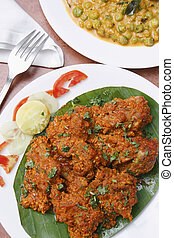 Chicken sukka from Mangalore - Chicken sukka - A preparation...