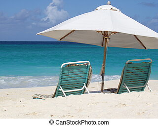 Chairs on the beach - Chairs on Shoal Bay Beach, Anguilla