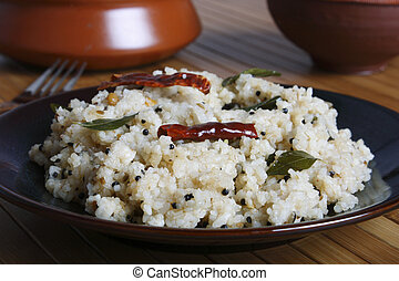 Rice upma is delicious food from Tamilnadu. - Rice upma is...