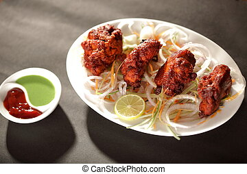 Mutton Tikka is an Indian/Pakistani dish made by baking...