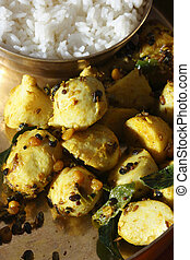 Chama dumpala Pulusu or Colocasia curry - Andhra style -...