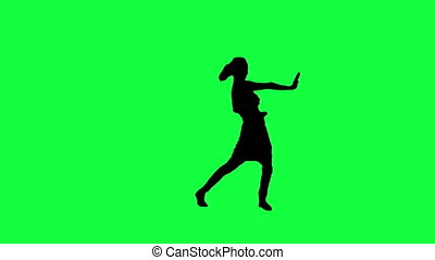 the silhouette of a dancing woman