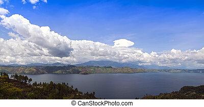 Lake Toba and Samosir Island View.