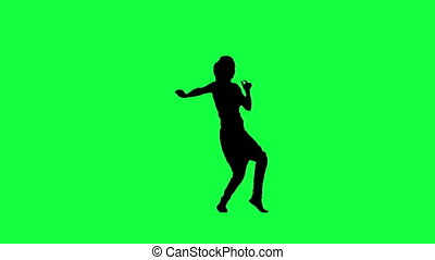 the silhouette of a dancing woman - the silhouette of a...