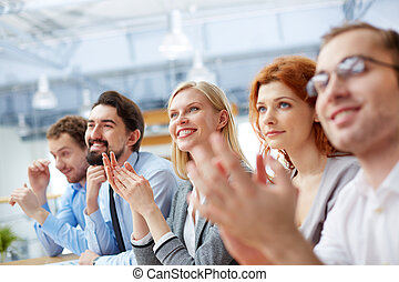 Business conference - Image of a business team with its...