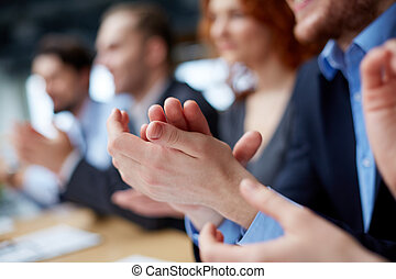 Business ovation - Photo of business partners hands...