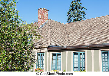 Old Plaster Home and Shingled Roof - A nice plaster home...