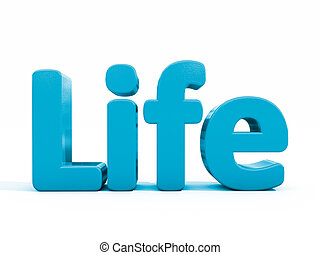 3d word life - Word life icon on a white background. 3D...