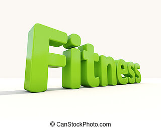 3d word fitness - Word fitness icon on a white background 3D...