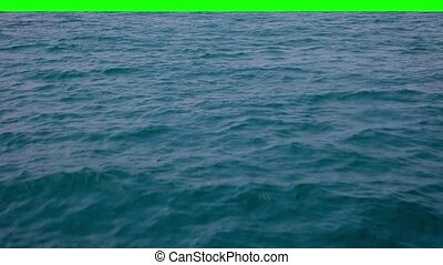 Real waves with green background.