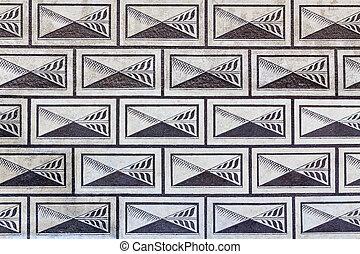 Renaissance facade pattern - A renaissance pattern on a...
