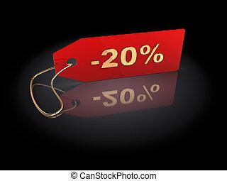 20 percent discount - 3d illustration of 20 percent discount...