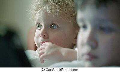 Curious children faces