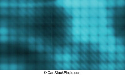 Blue Squares Abstract Loop R4463