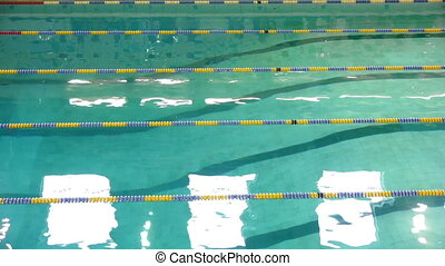Swimming competition in the Pool