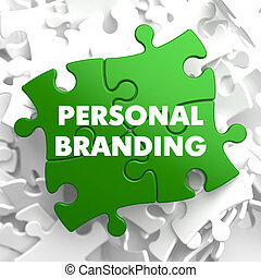 Personal Branding on Green Puzzle. - Personal Branding on...