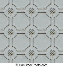 Wrought Iron Surface. Seamless Texture. - Painted Metal...