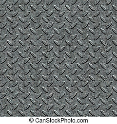 Metal Diamond Plate. Seamless Tileable Texture. - Metal...