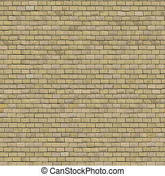 Beige Brick Wall. Seamless Tileable Texture.
