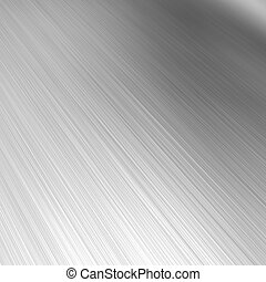 Brushed Aluminum - A brushed aluminum background or texture...