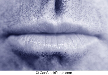 Man lips. full frame close up. Concept photo of male...