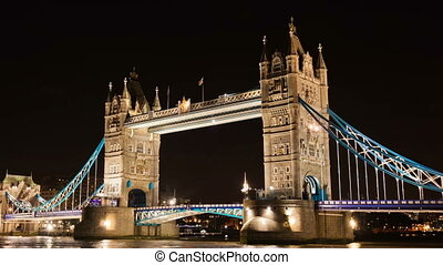 London tower bridge timelapse.
