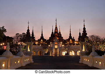 CHAIANG MAI, THAILAND - MARCH 8, 2014 : The luxury resort, Mandarin Oriental Dhara Dhevi Chiangmai in Thailand.