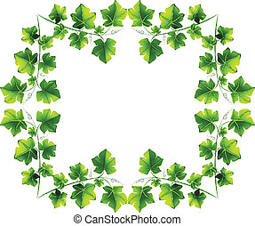 Leafy border design - Illustration of the leafy border...