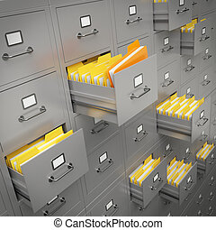 File cabinet - Very high resolution rendering of a large...