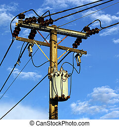 Transformer and power lines