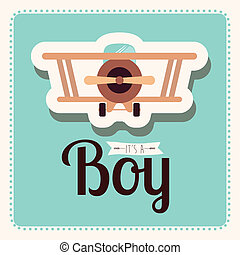 baby design over background vector illustration