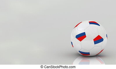 Russian soccer ball, seamless loop - Very highly detailed...