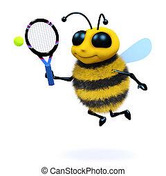 3d Bee serves