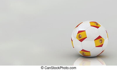 Spanish soccer ball, seamless loop - Very highly detailed...