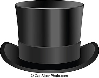 Low top hat - Vintage low top hat illustration.