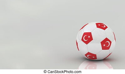 Turkish soccer ball, seamless loop - Very highly detailed...