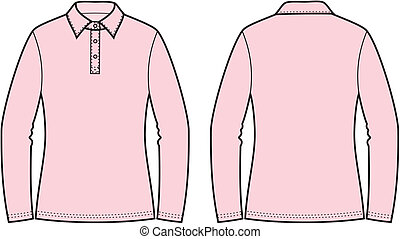 Polo jumper - Vector illustration of womens polo jumper...