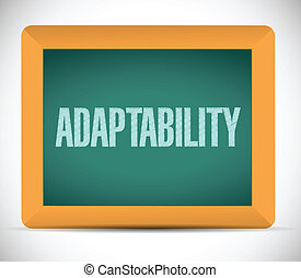 adaptability sign message illustration design over a white...