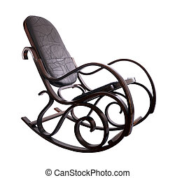 Rocking chair isolated over a white background