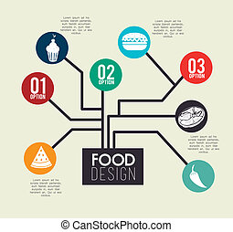 Healthy food design over beige background, vector...
