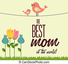 Mothers day over beige background, vector illustration
