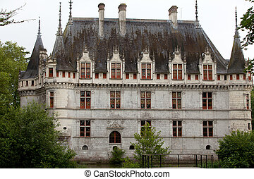 Azay-le-Rideau castle in the Loire Valley, France