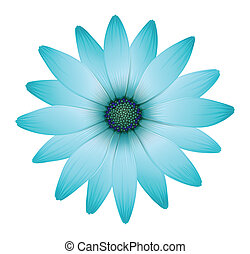 A beautiful flower - Illustration of a beautiful flower on a...