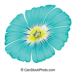 A blooming blue flower - Illustration of a blooming blue...