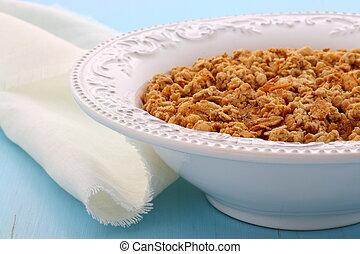 delicioso, orgánico, fornido, granola, cereal