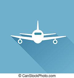 plano, largo, sombra, Aire, avión