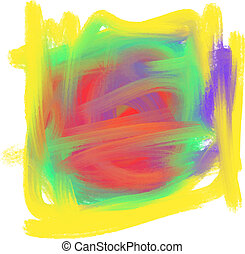 Abstract colorful Oil Paint Mark Vector illustration