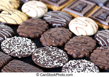 Chocolates - Glovebox with mixed chocolates of different...