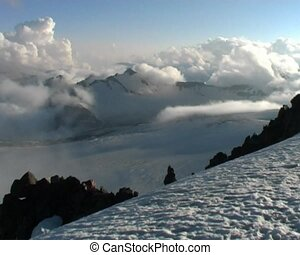 mountain panorama - panoramic view in Caucasian mountains...